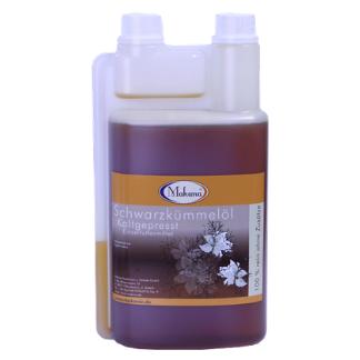 Olej z czarnuszki 1l- olej dla koni, odporność i lśniąca sierść