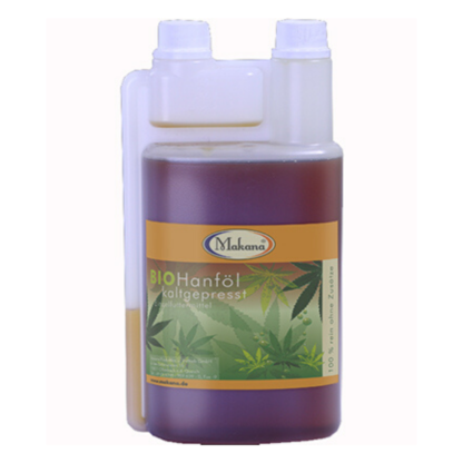 Olej konopny BIO Makana 1l – wspomaga leczenie egzemy i alergii