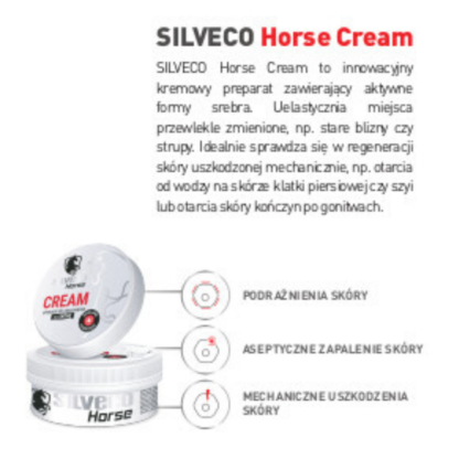 SILVECO Horse Cream krem regenerujący dla koni